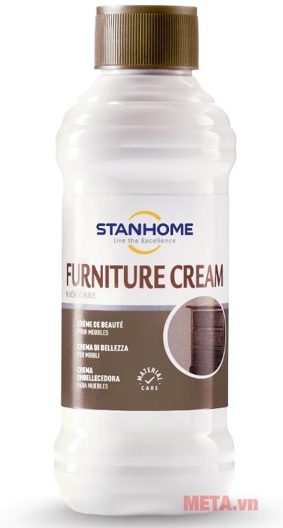 Furniture Cream Stanhome với kết cấu dạng kem là lớp phủ tuyệt vời cho mọi bề mặt gỗ.