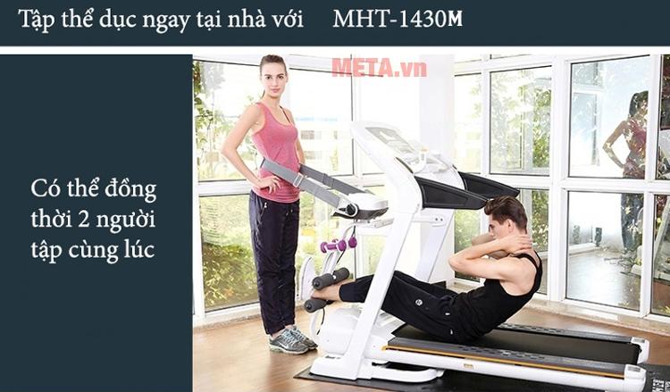 Máy chạy điện cao cấp MHT-1430M tập 2 người cùng lúc