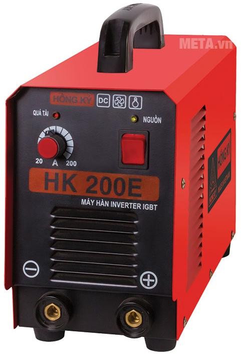 Máy hàn điện tử Hồng Ký HK 200E có hiệu suất làm việc trung bình đạt 60%.