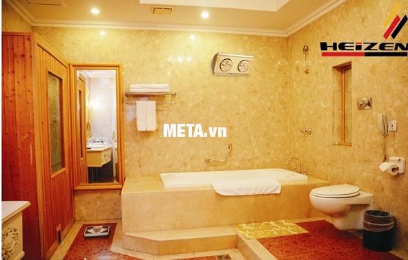 Đèn sưởi nhà tắm Heizen 2 bóng HE-2B lắp đặt dễ dàng trong nhà tắm