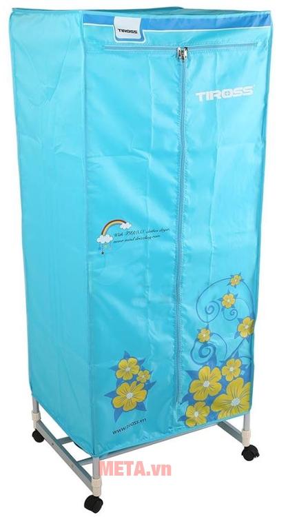 Tủ sấy quần áo Tiross TS-882 có khối lượng sấy lớn lên tới 15kg.