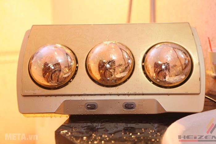 Đèn sưởi nhà tắm 3 bóng Heizen HE3BR sử dụng an toàn trong môi trường ẩm ướt.