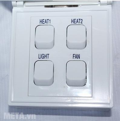Công tắc của đèn sưởi nhà tắm Kottmann âm tường K4BT