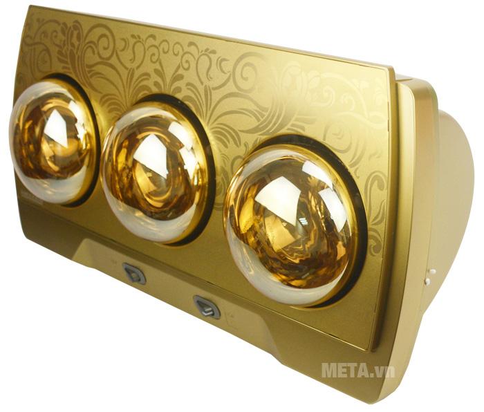 Khung đèn sưởi nhà tắm điều khiển Heizen HE3BR sử dụng chất liệu cao cấp, khó vỡ.