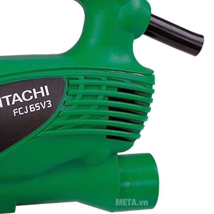 Máy cưa lọng Hitachi FCJ65V3 có nhiều lỗ thoát nhiệt giúp kéo dài tuổi thọ cho máy.