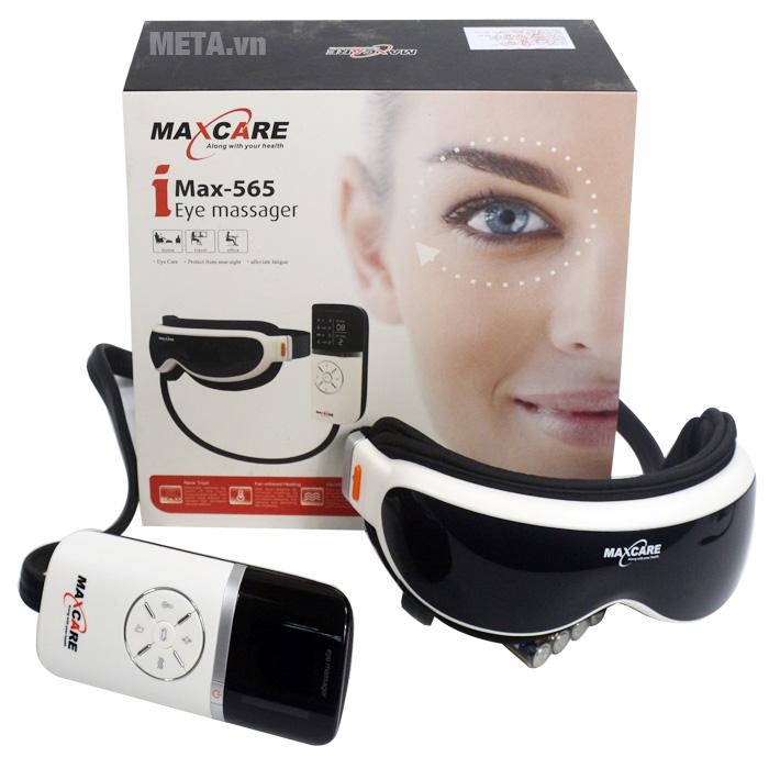 Máy massage mắt Maxcare Max565 thiết kế hộp đựng sang trọng.
