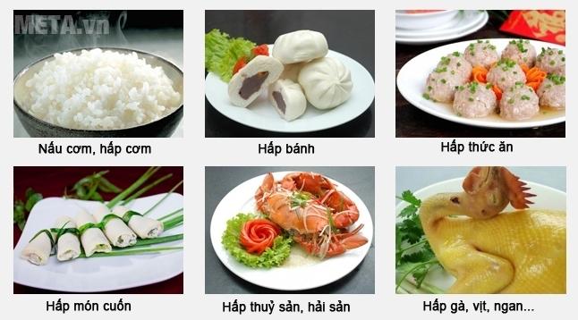 Tủ nấu cơm công nghiệp 6 khay dùng gas TCG-6 nấu được nhiều món ăn khác nhau.