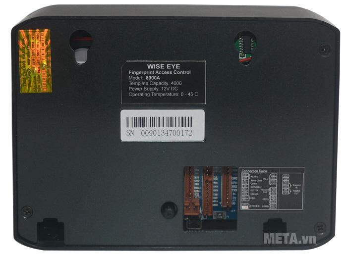Máy chấm công WISE EYE 8000A sử dụng chip Intel (Mỹ) 64 bit