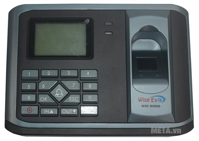 Máy chấm công WISE EYE 8000A có màn hình LCD