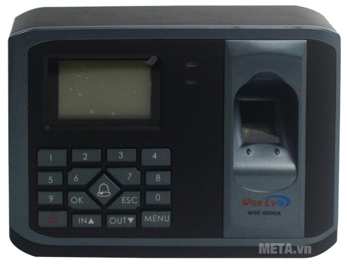 Sử dụng máy chấm công WISE EYE 8000A, bạn sẽ không bị mất dữ liệu khi mất nguồn.