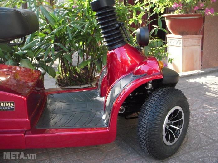 Xe lăn điện HA-3029S thiết kế bánh xe có độ ma sát cao.
