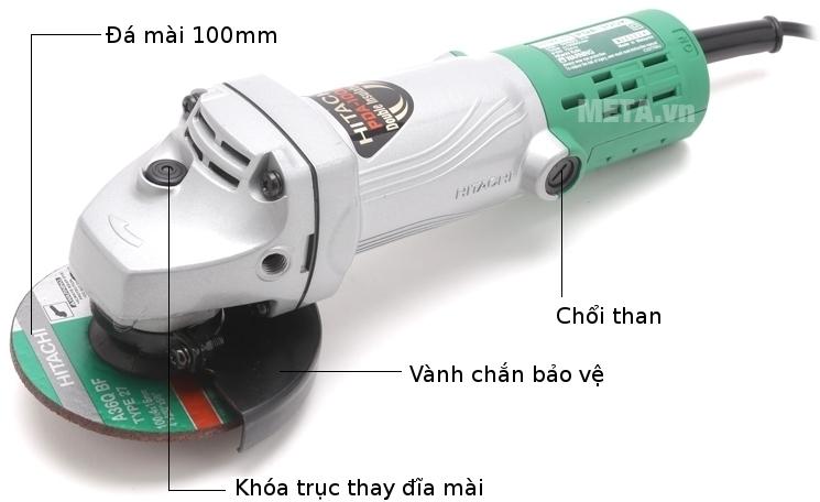 Các bộ phận của máy mài Hitachi PDA100K