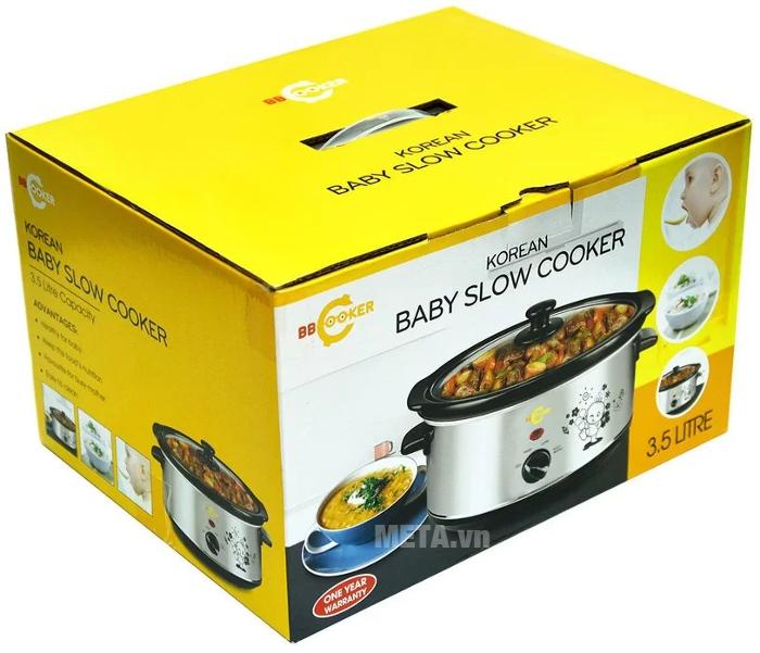 Nồi nấu cháo đa năng Hàn Quốc BBCooker 3.5 lít có hộp đựng sang trọng.