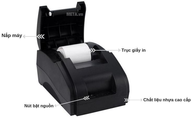 Cấu tạo của máy in hóa đơn Xprinter XP-58II.