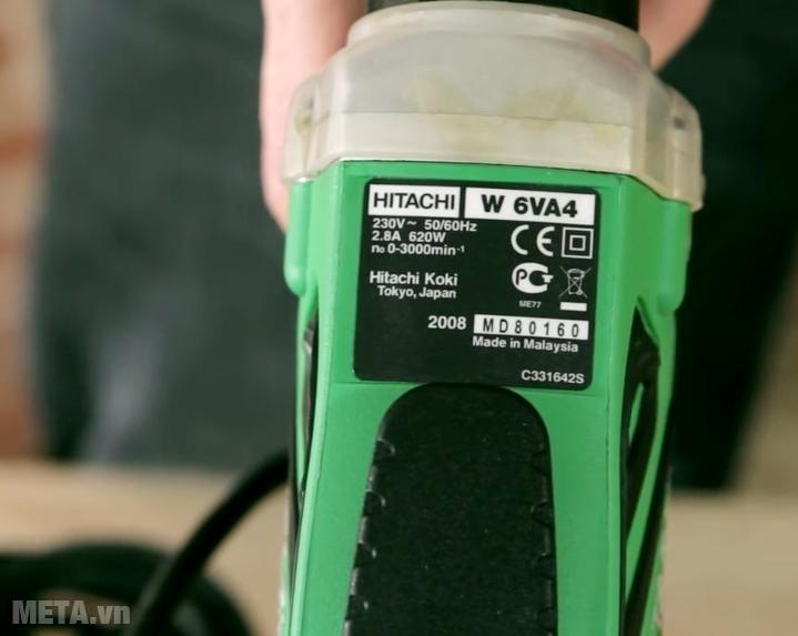 Máy vặn vít Hitachi W6VA4 620W có xuất xứ Malaysia.