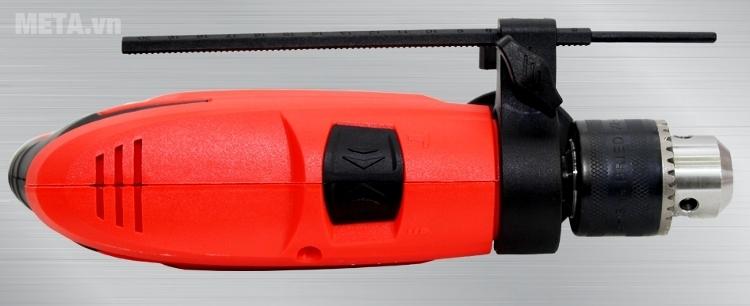 Thước canh độ sâu đi kèm máy khoan OSHIMA K550 giúp khoan vật liệu chính xác hơn.
