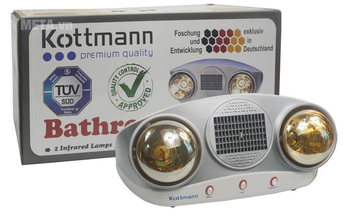 Đèn sưởi nhà tắm Kottmann 2 bóng kèm thổi gió nóng K2B-HW-S