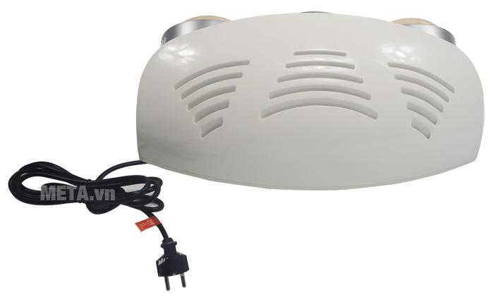Mặt sau của đèn sưởi nhà tắm Kottmann 2 bóng kèm thổi gió nóng K2B-HW-S
