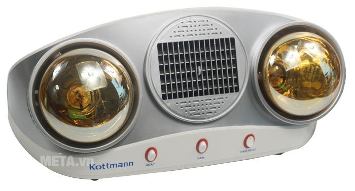 Hình ảnh đèn sưởi nhà tắm Kottmann 2 bóng kèm thổi gió