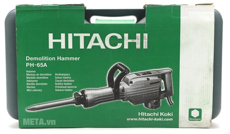 Máy đục bê tông Hitachi PH65A có hộp đựng bảo quản máy.