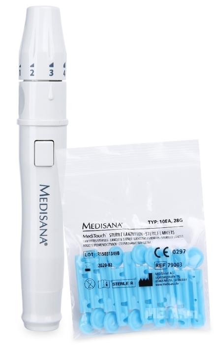Bút và kim lấy máu của máy đo đường huyết Medisana Meditouch 2
