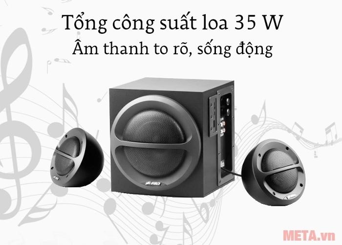 Loa Fenda A111 phát ra âm thanh và bass to rõ