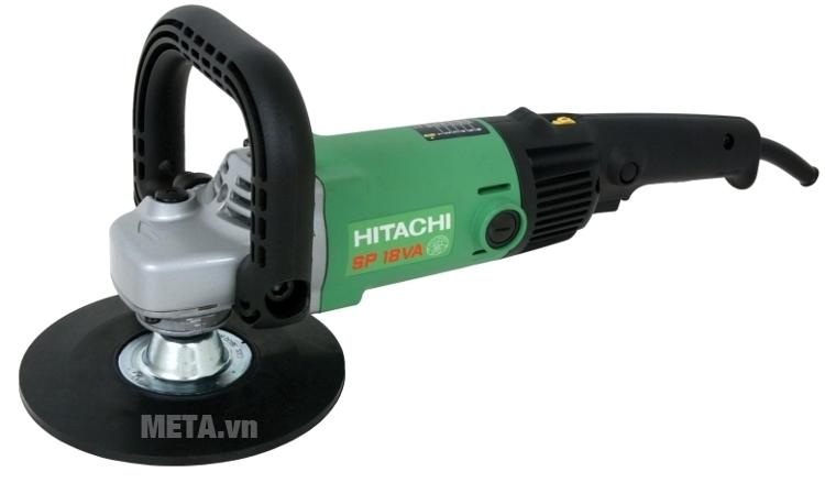 Máy chà nhám đánh bóng Hitachi SP18VA có khóa trục giúp thay thế đĩa chà nhám, đánh bóng nhanh chóng.