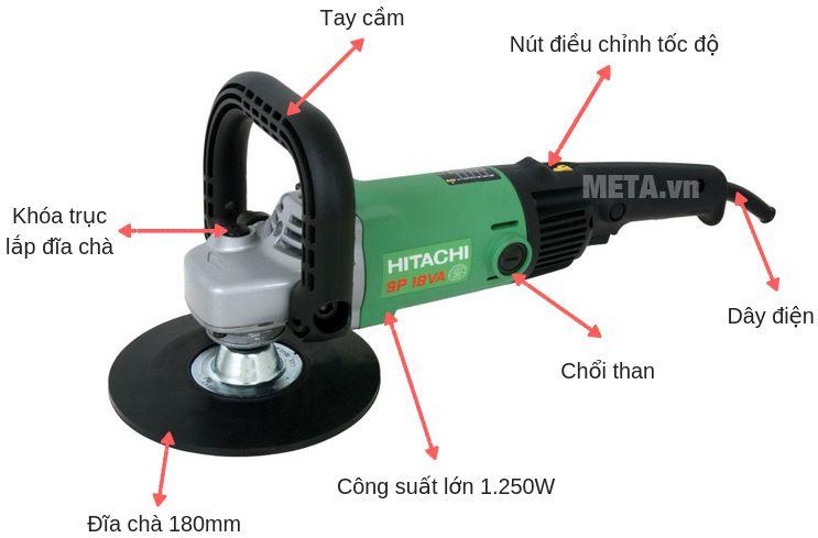 Cấu tạo của máy chà nhám đánh bóng Hitachi SP18VA