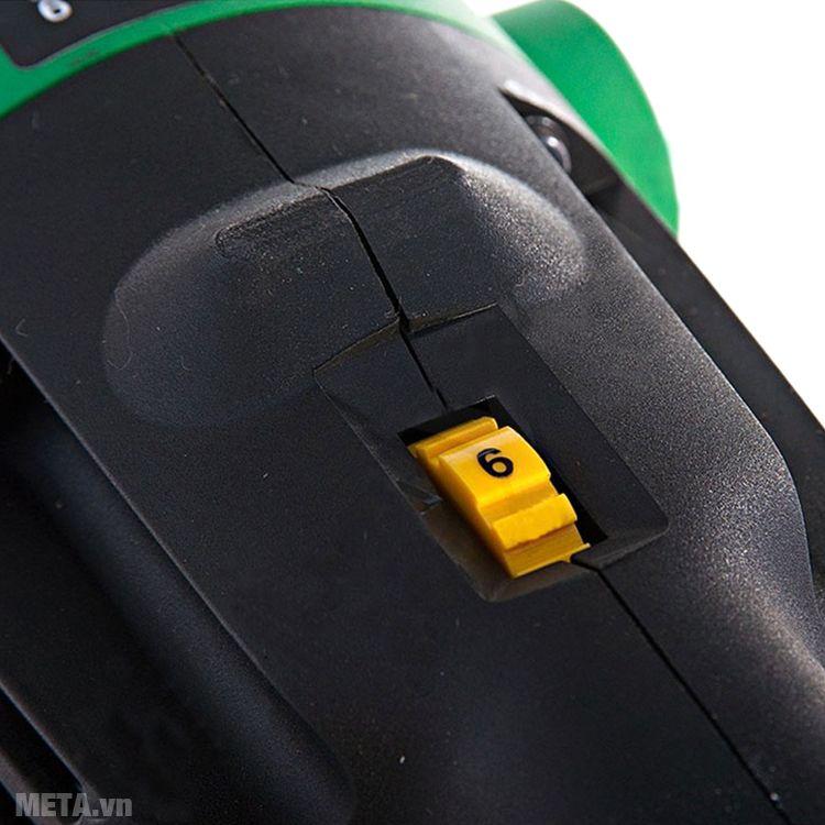 Máy chà nhám đánh bóng Hitachi SP18VA có 6 mức điều chỉnh tốc độ.