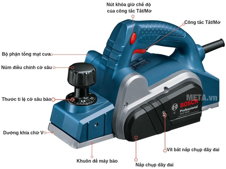 Cấu tạo của máy bào Bosch GHO 6500 Professional