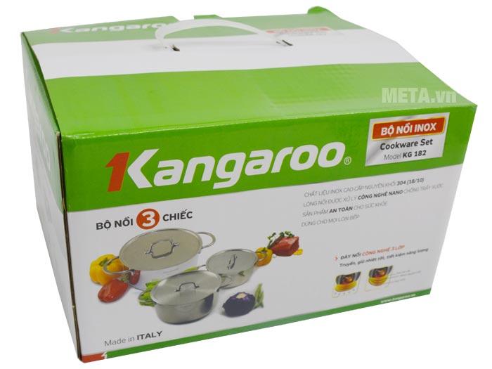 Bộ nồi Kangaroo KG182 có hộp đựng sang trọng