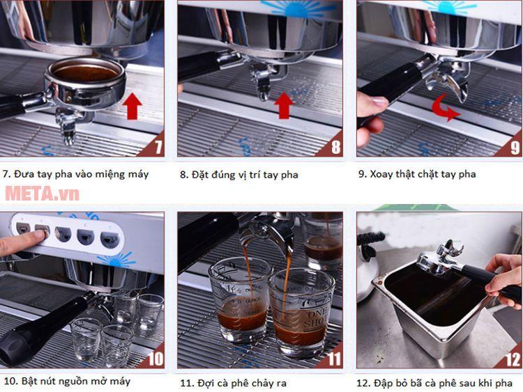 Hướng dẫn cách pha cà phê Espresso với máy pha cà phê Faema E98 Auto