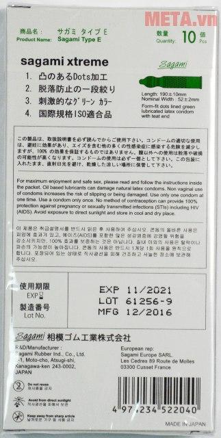 Bao cao su Sagami Xtreme White với hạn sử dụng dài