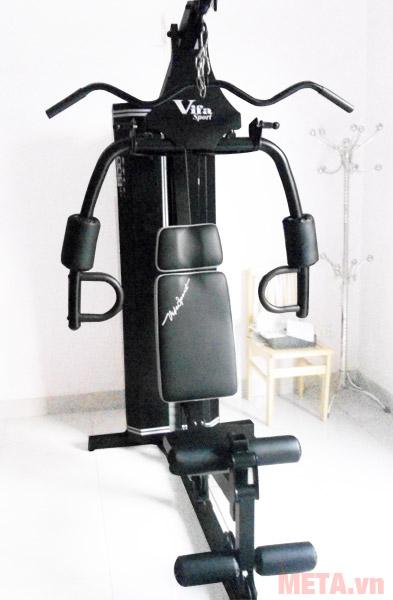 Giàn tạ đa năng Vifa Sport 610250 sử dụng thép hộp cho độ bền cao.