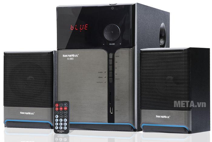 Loa SoundMax A-990 có hệ thống kênh 2.1