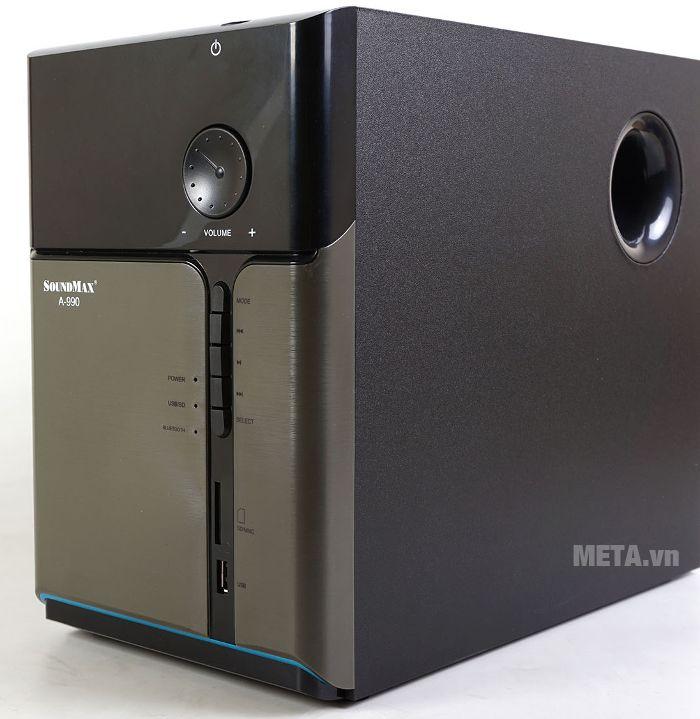Loa siêu trầm nằm trong bộ loa SoundMax A-990
