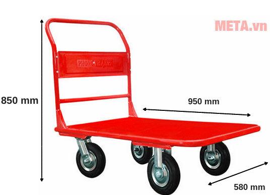 Xe đẩy hàng Phong Thạnh XTH 200T được thiết kế theo tiêu chuẩn với người Châu Á