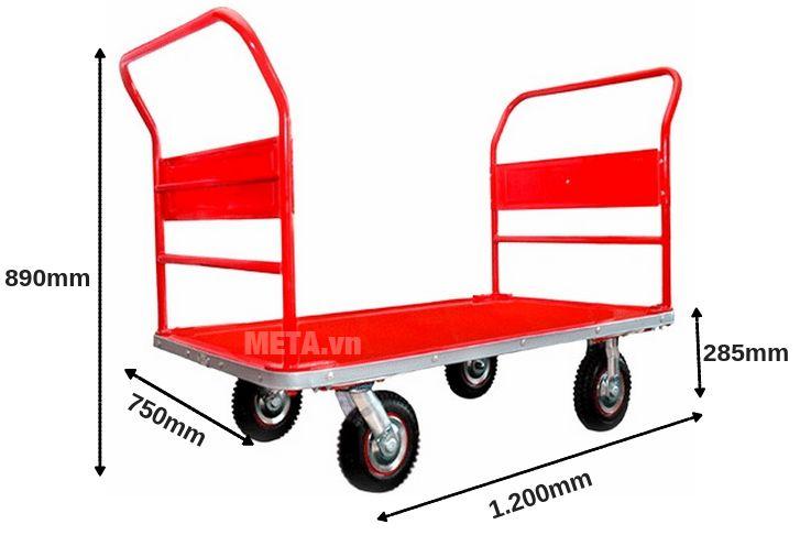 Kích thước của xe đẩy hàng Phong Thạnh XTH250S2