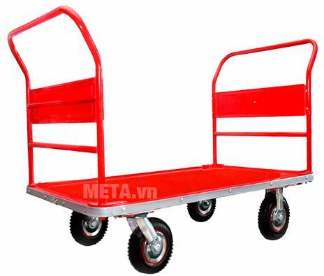 Xe đẩy hàng Phong Thạnh XTH250S2 có 4 bánh xe với đường kính lớn