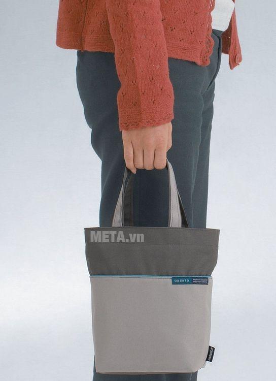 Hộp đựng thực phẩm giữ nhiệt Zojirushi SL-NC09-AA có túi xách dễ di chuyển