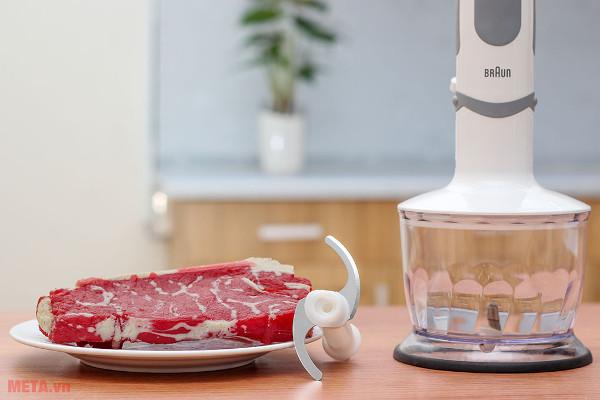 Máy xay cầm tay Braun MQ5035 Sauce Vario với chức năng xay thịt và đa dạng các loại thực phẩm khác
