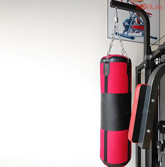 Giàn tạ đa năng Động Lực DLY-1522C-1 với bao đấm boxing.