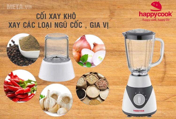 Máy xay sinh tố Happy Cook HCB-1502 là dòng máy xay đa năng.