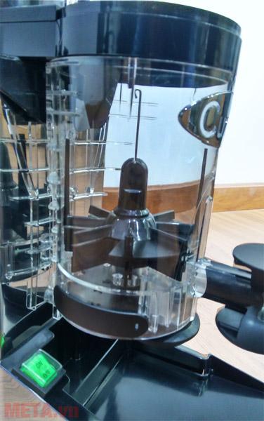 Ngăn đựng cà phê bột thành phẩm của máy xay cà phê Cunill Space Inox