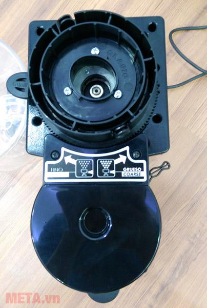 Máy xay cà phê Cunill Space Inox có thể tháo rời ngăn đựng hạt cà phê