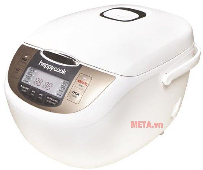 Nồi cơm điện tử Happy Cook 1.8 lít HCJ-180D có tay xách chắc chắn.