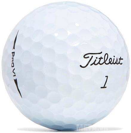 Bóng golf Titleist Pro V1 với thiết kế màu trắng truyền thống.