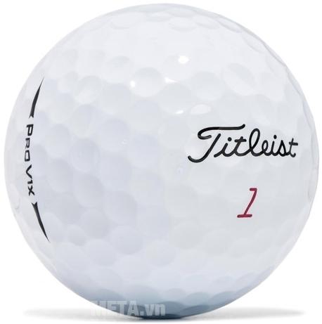 Bóng golf Titleist Pro V1X (New 2017) với thiết kế 328 điểm lõi trên bề mặt bóng.