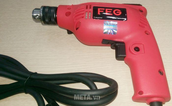 Máy khoan đầu cặp FEG EG-506A có nút nhấn duy trì thao tác khoan