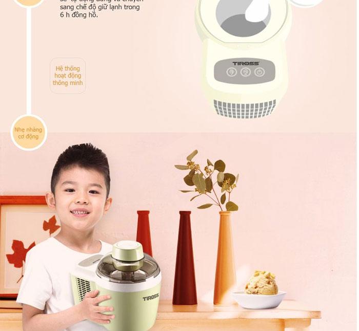 Máy làm kem Tiross TS-9090 giúp bảo vệ sức khỏe cho bé yêu